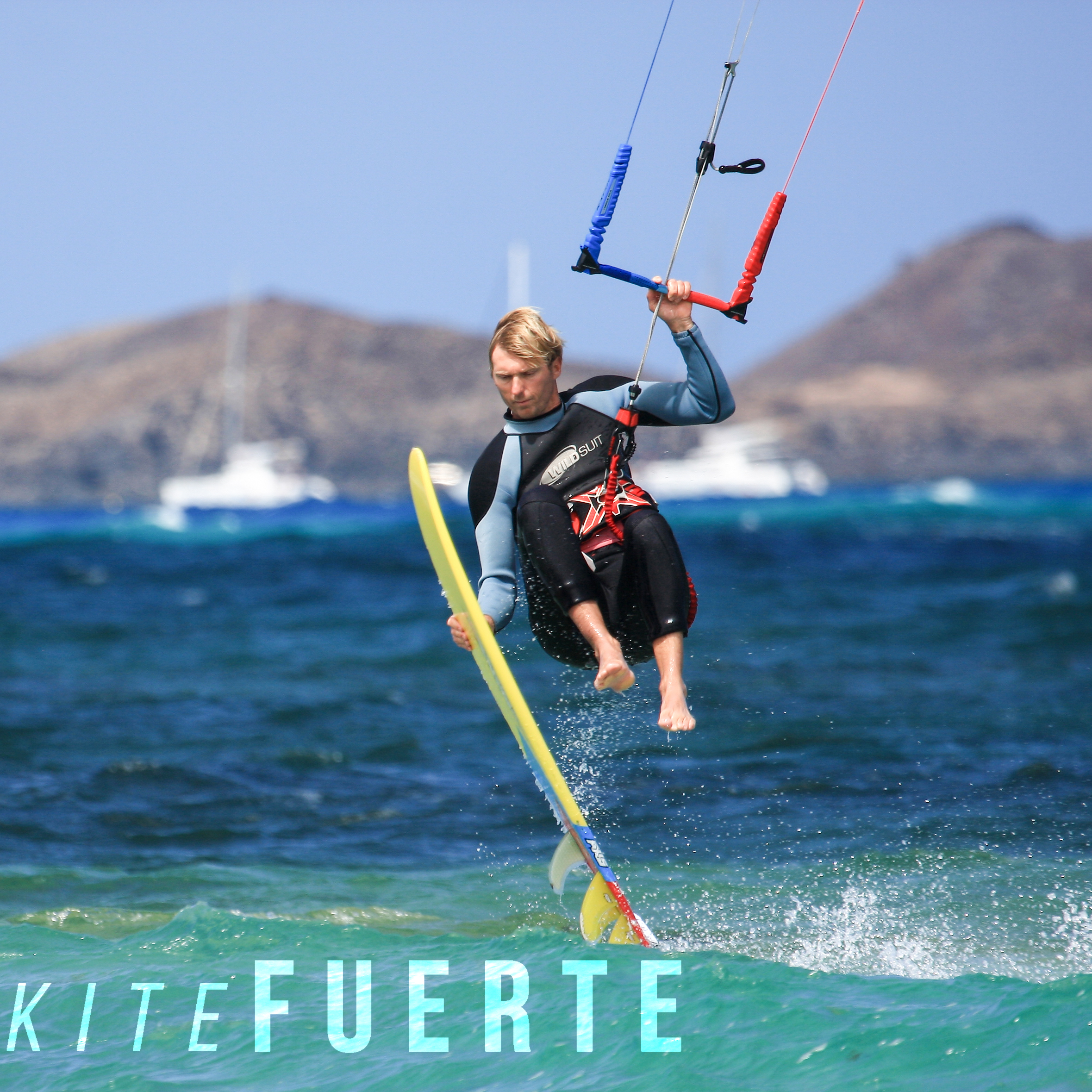Flag beach kitesurfing Fuerteventura photos photographer